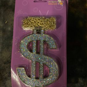 Over-sized Dollar Sign Necklace