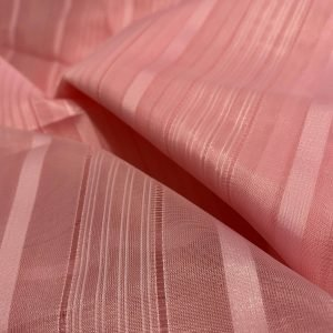 Pink Sheer Stripy Fabric