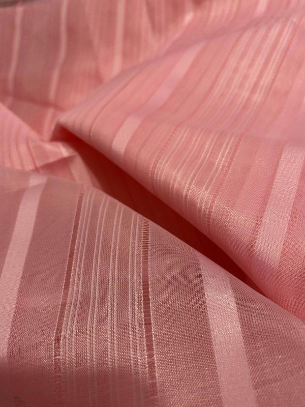 Pink Sheer Stripy Fabric
