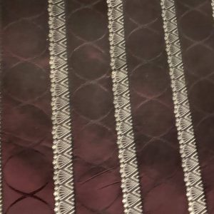 Luxury Shot Maroon Embroidered Fabric