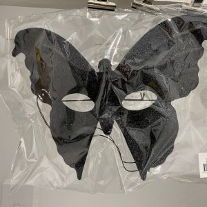 Black Glittery Butterfly Mask