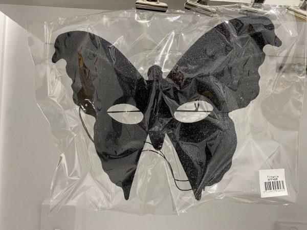 Black Glittery Butterfly Mask
