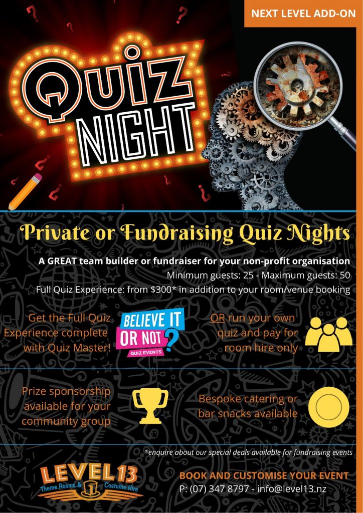 Quiz Nights at Level 13